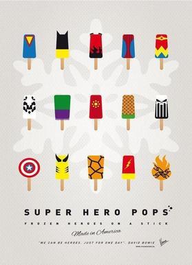 My Superhero Ice Pop - Universe Canvas Print