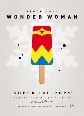 My Superhero Ice Pop - Wonder Woman Canvas Print