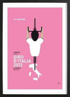 MY GIRO D'ITALIA MINIMAL POSTER 2013 Framed Print