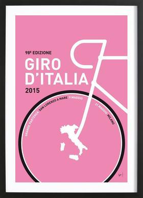 MY GIRO D'ITALIA MINIMAL POSTER 2015 - 2 Framed Print