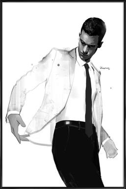 Man in white suit Framed Poster