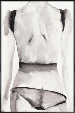 Slap - Poster in kunststof lijst