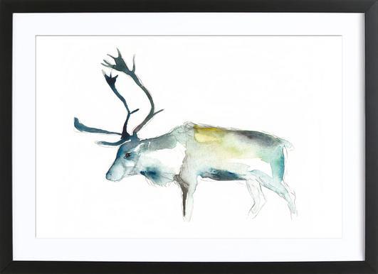Reindeer 2 affiche sous cadre en bois