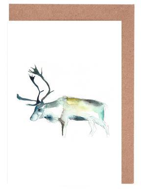 Reindeer 2 -Grußkarten-Set