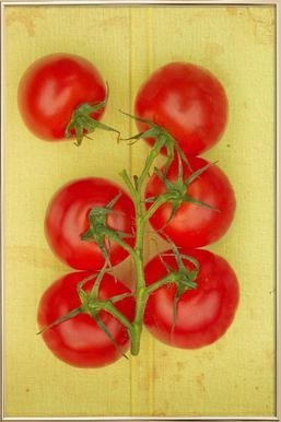 Big Tomatoes Poster in Aluminium Frame