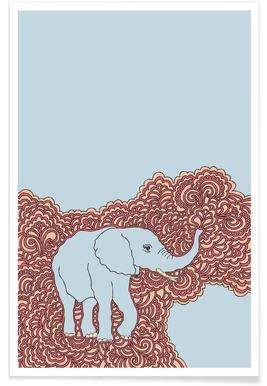 Elephant Blue affiche