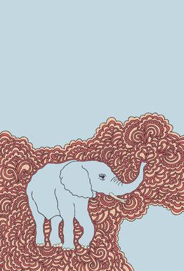 Elephant Blue Impression sur alu-Dibond