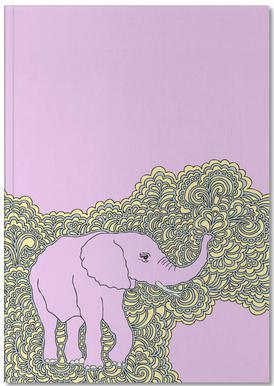 Elephant Purple Notebook