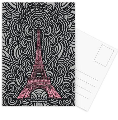 Eiffel Tower Drawing Meditation Pink