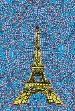 Eiffel Tower Drawing Meditation Yellow