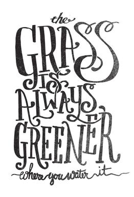 the grass is always greener Acrylic Print