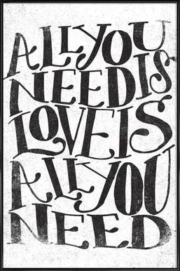 love is all you need ingelijste poster