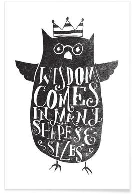 wisdom comes in many shapes and sizes Poster