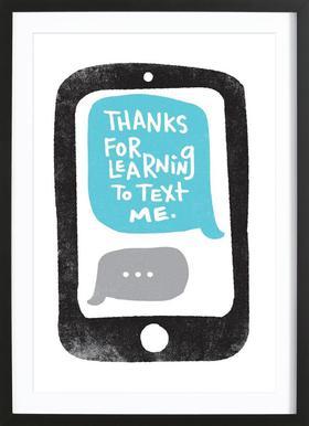 Moms Text affiche sous cadre en bois
