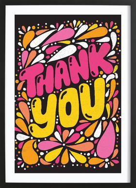 Thank You affiche sous cadre en bois