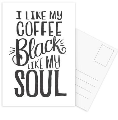 Black Coffee Postcard Set