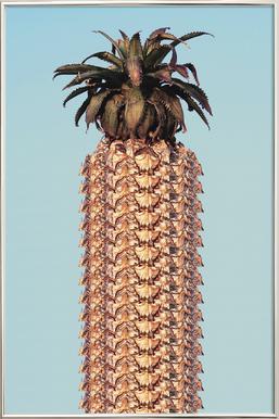 Pineapple Poster in Aluminium Frame