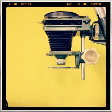 Half Tone Studio Poster in Aluminium Frame