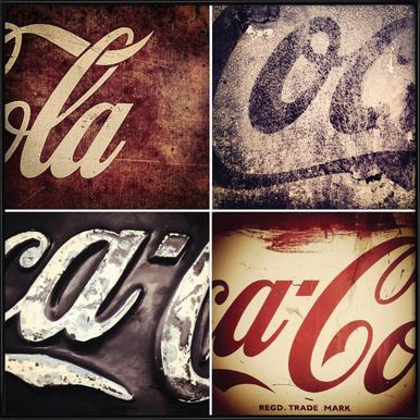 4 Cokes Poster Framed Poster
