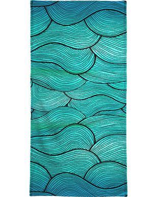 Sea Waves Pattern Bath Towel