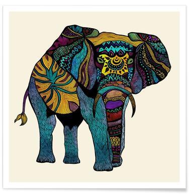 Elephant of Namibia Poster