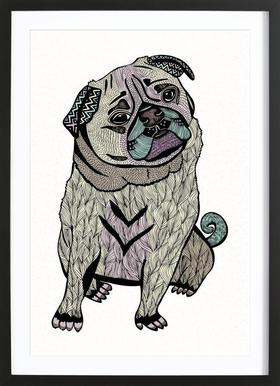 Ares The Pug Framed Print