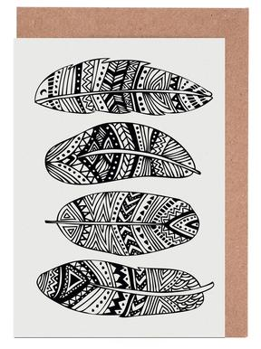 Feathers Of My Life Greeting Card Set