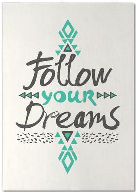 Follow Your Dreams bloc-notes