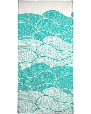 The Calm And Stormy Seas Bath Towel