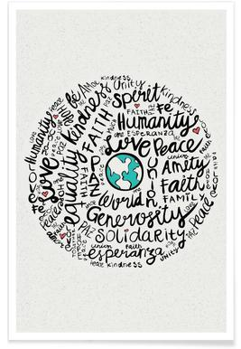 World Positive Messages Poster