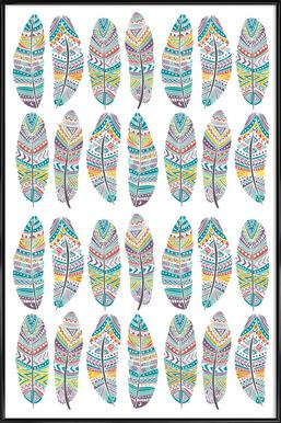 Feathers Pattern with Gold