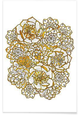 Succulent Bouquet Poster