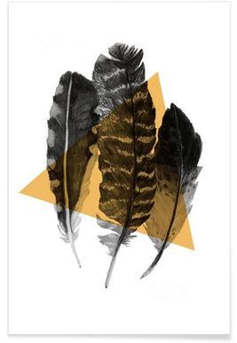 Federn-Zeichnung -Poster