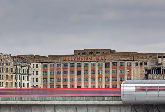 Millenium Mills -Acrylglasbild