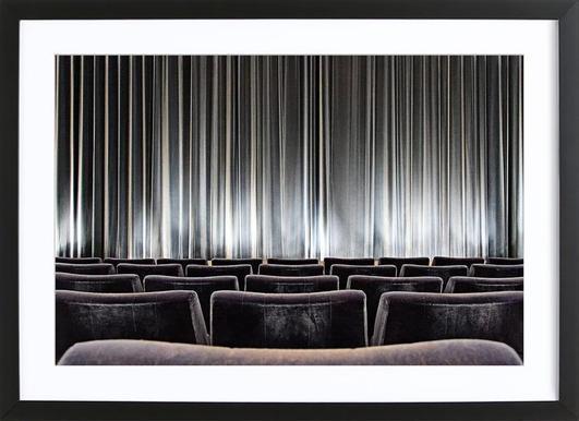 Vorhang International -Bild mit Holzrahmen