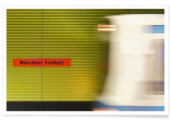 Münchener Freiheit - Premium Poster