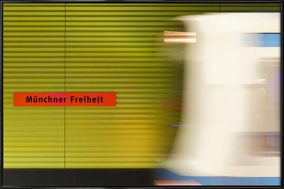 Münchener Freiheit - Poster in kunststof lijst