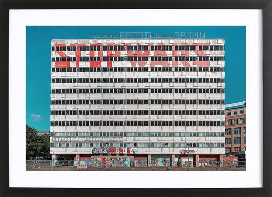 Haus der Statistik Framed Print