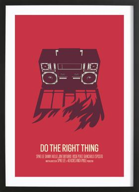 Do The Right Thing - Poster in Wooden Frame