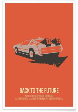 Back to the Future 2 Minimalist Poster