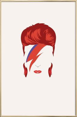 Bowie poster in aluminium lijst