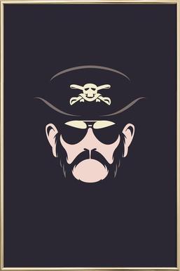 Lemmy -Poster im Alurahmen