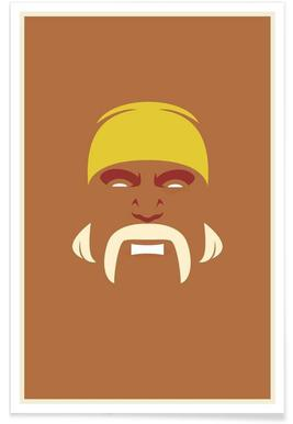 Hulk Hogan Minimalist Poster