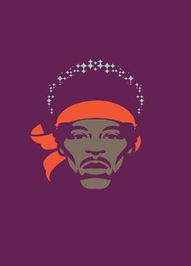 Hendrix -Leinwandbild