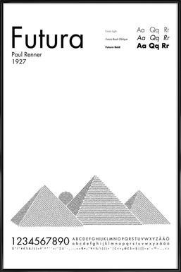 Futura - Affiche sous cadre standard