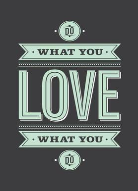 Do What You Love canvas doek