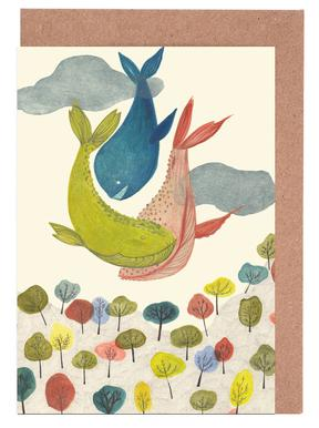 It´s Raining Whales Greeting Card Set