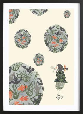 Seifenblasen ingelijste print
