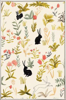 Black Rabbits poster in aluminium lijst