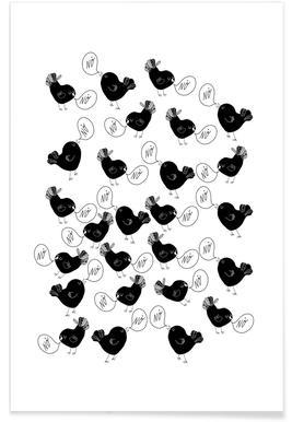 Black Singing Birds Poster